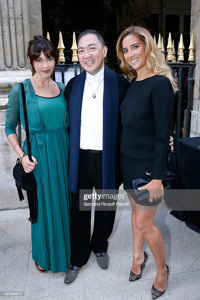 Singer <a gi-track='captionPersonalityLinkClicked' href=/galleries/search?phrase=Nolwenn+Leroy&family=editorial&specificpeople=4343653 ng-click='$event.stopPropagation()'>Nolwenn Leroy</a>, Qeelin jeweler Dennis Chan and <a gi-track='captionPersonalityLinkClicked' href=/galleries/search?phrase=Vahina+Giocante&family=editorial&specificpeople=615653 ng-click='$event.stopPropagation()'>Vahina Giocante</a> attend the 'Qeelin' high Jewellery Exhibition opening Cocktail 'Mogoaku in Paris' at Jardin du Palais Royal on June 30, 2014 in Paris, France.
