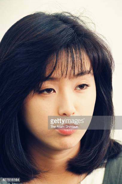 Singer Noriko Sakai speaks during the Asahi Shimbun interview on April 23 1993 in Tokyo Japan