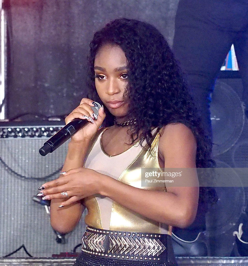 Singer Normani Hamilton of band Fifth Harmony performs On NBC's 'Today' at Rockefeller Plaza on May 30, 2016 in New York City.