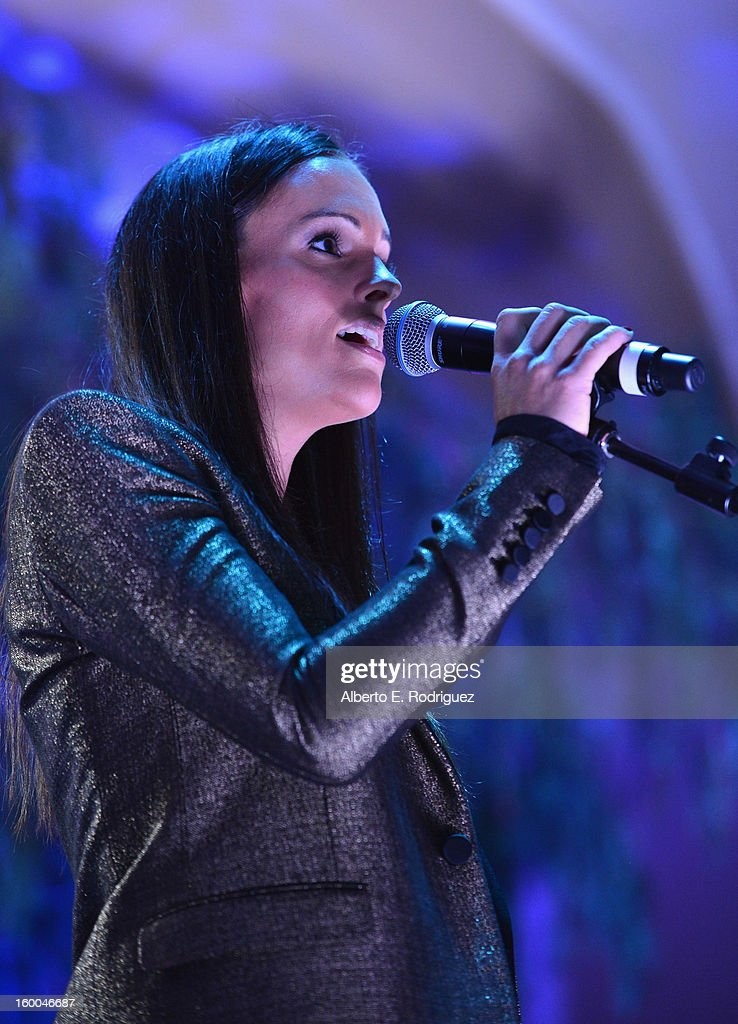 Singer Nova performs at The Voice Health Institute's 'Raise Your Voice' benefit at the Beverly Hills Hotel on January 24, 2013 in Beverly Hills, California.