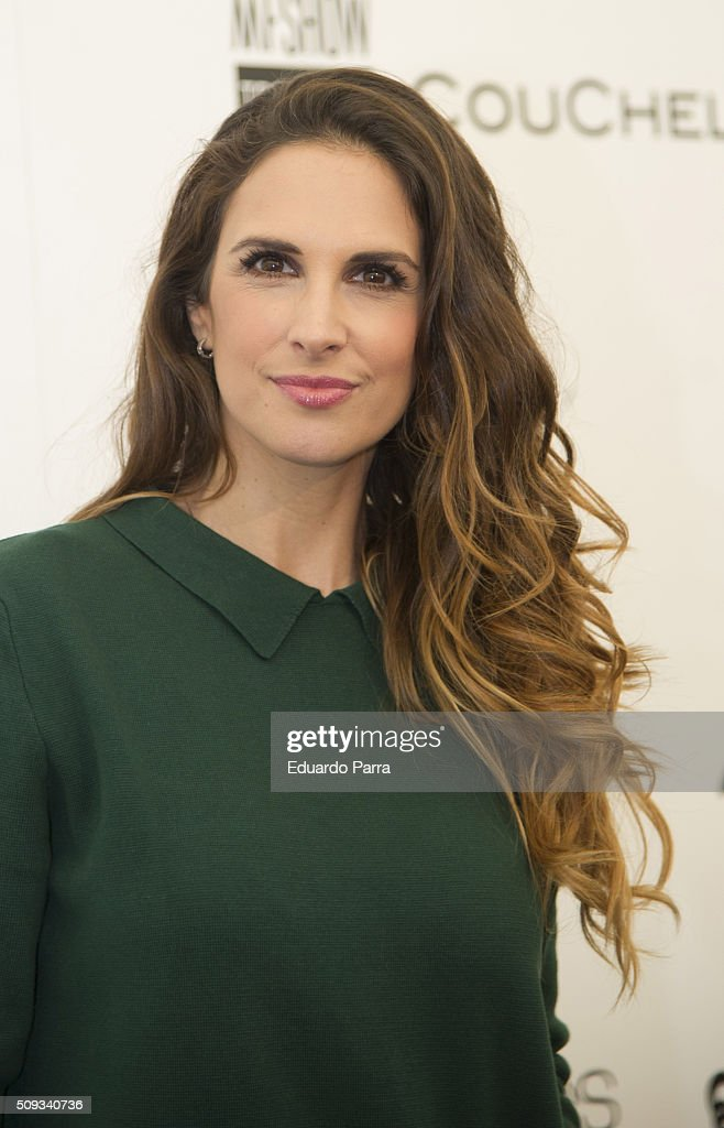 Singer Nuria Fergo attends Couchel fashion show photocall at Colon Square on February 10, 2016 in Madrid, Spain.