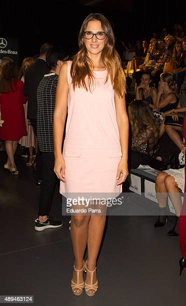 Singer Nuria Fergo is seen attending MercedesBenz Fashion Week Madrid Spring/Summer 2015/16 at Ifema on September 21 2015 in Madrid Spain