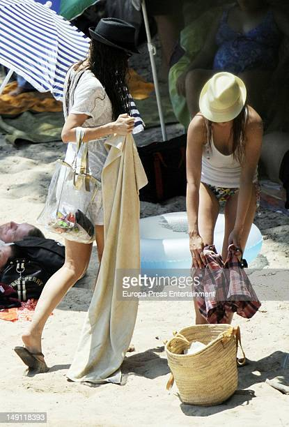 Singer Nuria Fergo is seen on July 23 2012 in Mallorca Spain