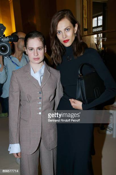 Singer of 'Christine and the Queens' Eloise Letissier and Aymeline Valade attend the Stella McCartney show as part of the Paris Fashion Week...
