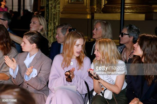 singer of 'Christine and the Queens' Eloise Letissier Natalia Vodianova Kylie Minogue and Charlotte Casiraghi attend the Stella McCartney show as...