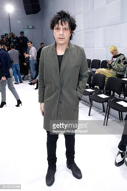 Singer of 'Indochine' musical group Nicola Sirkis attends the Balenciaga show as part of the Paris Fashion Week Womenswear Fall/Winter 2016/2017 on...