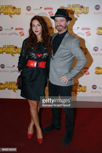 Singer of Musical Group Dionysos Mathias Malzieu and his companion attend the 'Le Petit Spirou' Paris Premiere at Le Grand Rex on September 10 2017...