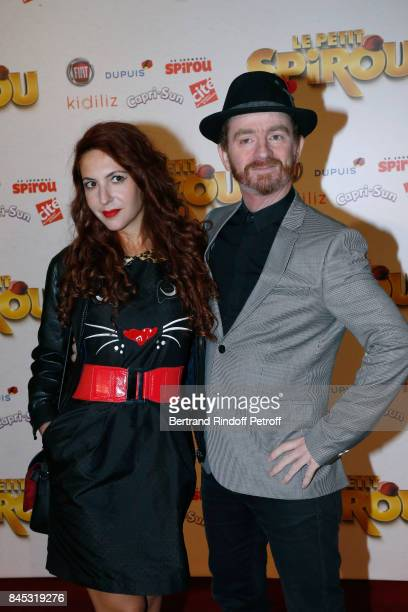 Singer of Musical Group Dionysos Mathias Malzieu and his companion attend the 'Le Petit Spirou' Paris Premiere at Le Grand Rex on September 10 2017...