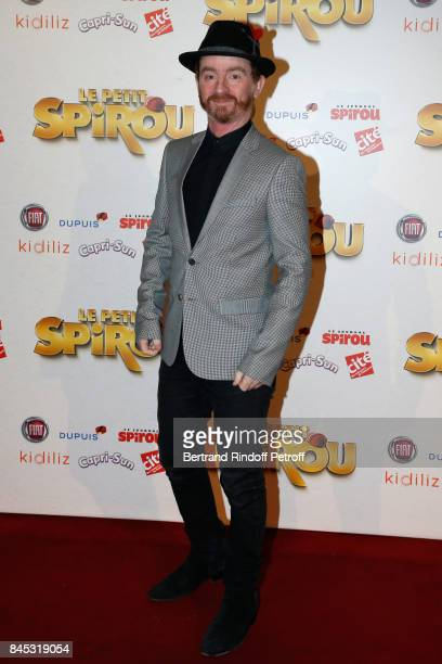 Singer of Musical Group Dionysos Mathias Malzieu attends the 'Le Petit Spirou' Paris Premiere at Le Grand Rex on September 10 2017 in Paris France