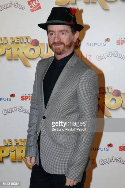Singer of Musical Group Dionysos Mathias Malzieu attends the 'Le Petit Spirou' Paris Premiere at Le Grand Rex on September 10 2017 in Paris France