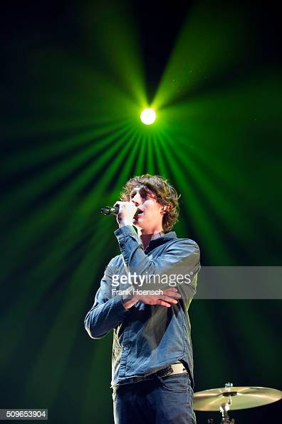 Singer Ole Specht of the German band Tonbandgeraet performs live in support of Andreas Bourani during a concert at the MaxSchmelingHalle on February...