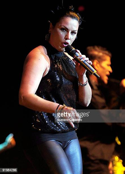 Singer Olga Tanon performs at Hard Rock Live in the Seminole Hard Rock Hotel Casino on October 18 2009 in Hollywood Florida