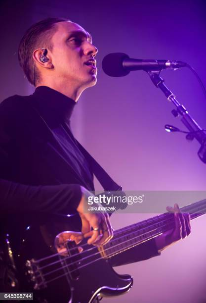 Singer Oliver Sim of the British band The xx performs live during a concert at the Arena on February 25 2017 in Berlin Germany