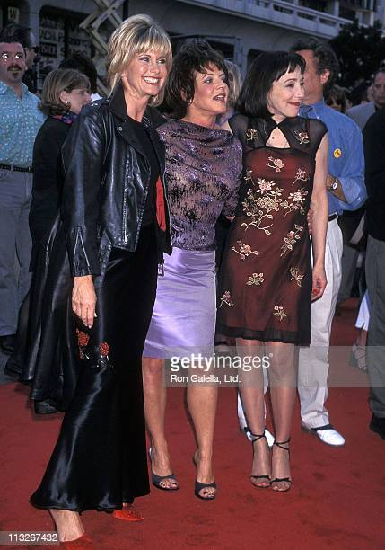 Singer Olivia NewtonJohn actress Stockard Channing and actress Didi Conn attend the 'Grease' 20th Anniversary Screening on May 15 1998 at Mann's...
