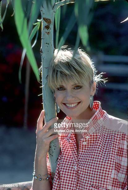 Singer Olivia NewtonJohn poses for a portrait in October 1985 in Los Angeles California