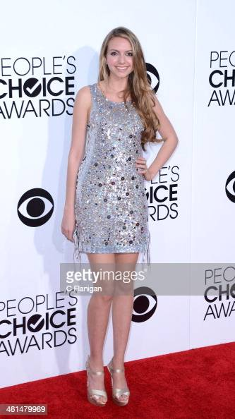 Singer Olivia Somerlyn arrives during The 40th Annual People's Choice Awards at Nokia Theatre LA Live on January 8 2014 in Los Angeles California