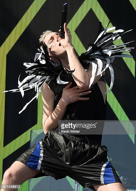 Singer Olly Alexander of Years Years performs onstage during day 1 of the 2016 Coachella Valley Music Arts Festival Weekend 1 at the Empire Polo Club...