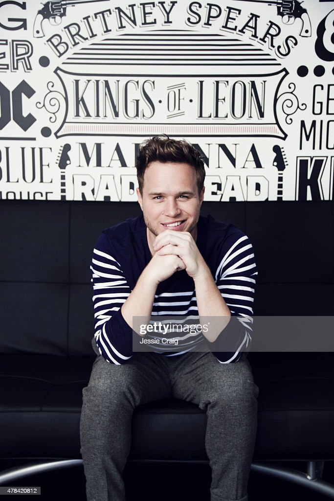 Singer <a gi-track='captionPersonalityLinkClicked' href=/galleries/search?phrase=Olly+Murs&family=editorial&specificpeople=6350751 ng-click='$event.stopPropagation()'>Olly Murs</a> is photographed at home for GQ magazine on October 1, 2014 in Witham, England.