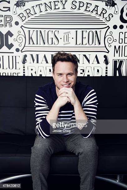 Singer Olly Murs is photographed at home for GQ magazine on October 1 2014 in Witham England