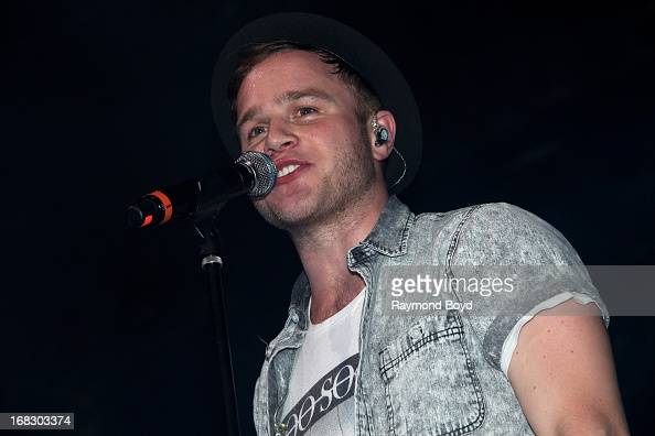 Singer Olly Murs performs at the Aragon Ballroom in Chicago Illinois on APRIL 27 2013