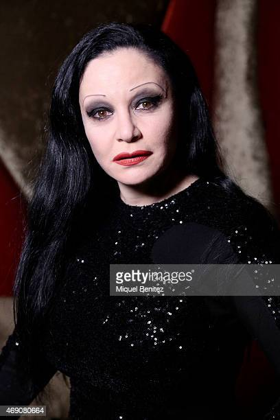 Singer Olvido Gara 'Alaska' attends 'Choco Diet' by Siken at Astoria theater on April 9 2015 in Barcelona Spain