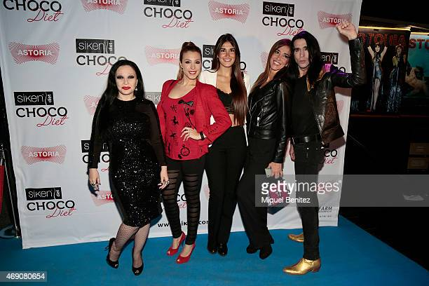Singer Olvido Gara 'Alaska' Gisela Llado 'Gisela' Lidia Torrent Elsa Anka and Mario Vaquerizo attend 'Choco Diet' by Siken at Astoria theater on...