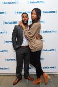 RB singer Omarion and girlfriend Apryl Jones visit SiriusXM Studios on May 1 2014 in New York City