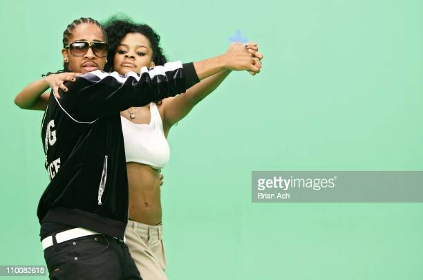 Singer Omarion and singer Teyana Taylor on the set for the video shoot for 'Google Me Baby' on February 5 2008 in Brooklyn New York