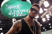 Singer Omarion attends the dance competition sponsored by Kingcom during the 2015 BET Experience at the Los Angeles Convention Center on June 27 2015...