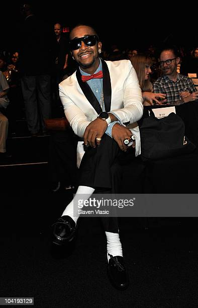 Singer Omarion attends the LAMB Spring 2011 fashion show during MercedesBenz Fashion Week at The Theater at Lincoln Center on September 16 2010 in...
