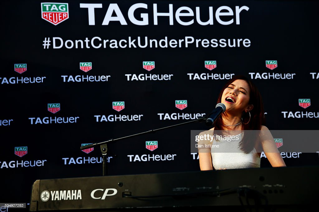 M., singer, on stage at a TAG-Heuer event in Port Hercule de Monaco on May 28, 2016 in Monaco, Monaco.