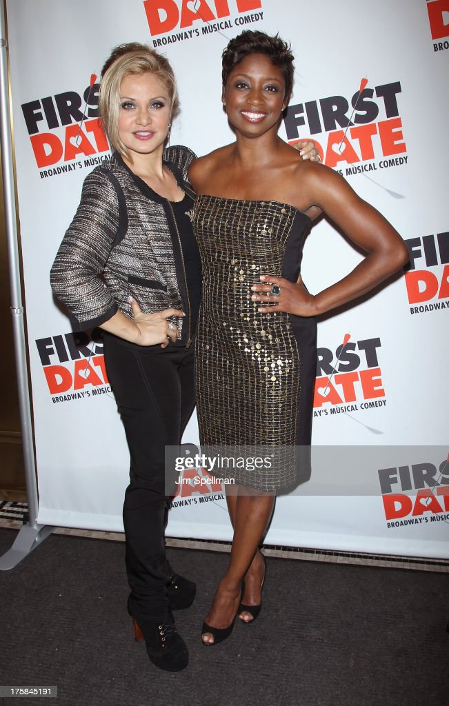 Singer Orfeh actress Montego Glover attend 'First Date' Broadway Opening Night at Longacre Theatre on August 8, 2013 in New York City.