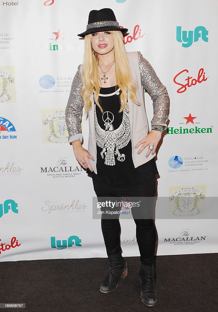 Singer Orianthi Panagaris arrives at the 2nd Annual Chris4Life Celebrity Auction at SLS Hotel on April 5, 2013 in Beverly Hills, California.