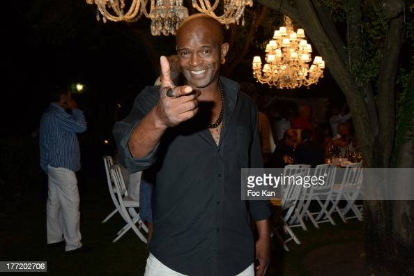 Singer Owi Mazel attends the Massimo Gargia's Birthday Dinner at Moulins de Ramatuelle on August 21 2013 in Saint Tropez France