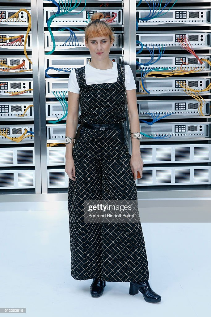 Singer Owlle, France Picoulet attends the Chanel show as part of the Paris Fashion Week Womenswear Spring/Summer 2017 on October 4, 2016 in Paris, France.