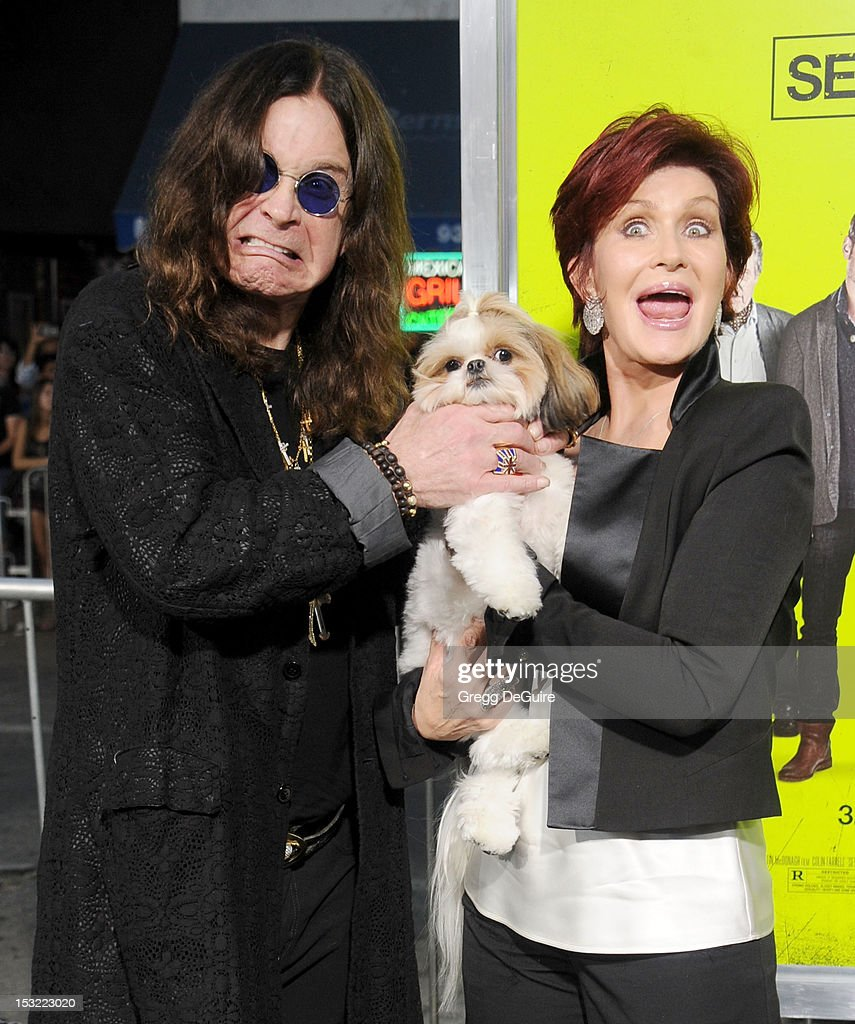 Singer <a gi-track='captionPersonalityLinkClicked' href=/galleries/search?phrase=Ozzy+Osbourne&family=editorial&specificpeople=138608 ng-click='$event.stopPropagation()'>Ozzy Osbourne</a> and <a gi-track='captionPersonalityLinkClicked' href=/galleries/search?phrase=Sharon+Osbourne&family=editorial&specificpeople=203094 ng-click='$event.stopPropagation()'>Sharon Osbourne</a> arrive at the Los Angeles premiere of 'Seven Psychopaths' at Mann Bruin Theatre on October 1, 2012 in Westwood, California.
