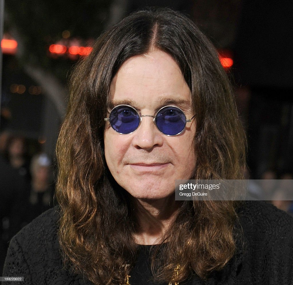 Singer <a gi-track='captionPersonalityLinkClicked' href=/galleries/search?phrase=Ozzy+Osbourne&family=editorial&specificpeople=138608 ng-click='$event.stopPropagation()'>Ozzy Osbourne</a> arrives at the Los Angeles premiere of 'Seven Psychopaths' at Mann Bruin Theatre on October 1, 2012 in Westwood, California.