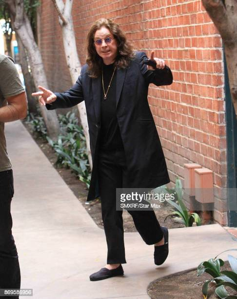 Singer Ozzy Osbourne is seen on November 2 2017 in Los Angeles California
