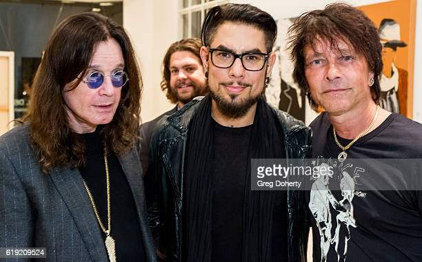 Singer Ozzy Osbourne Jack Osbourne Guitarist Dave Navarro and Artist Billy Morrison pose for a picture at the Gallery Opening Of 'Social Distortion A...