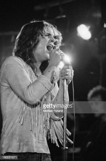 Singer Ozzy Osbourne performing with English rock group Black Sabbath at the Royal Albert Hall London 17th February 1972