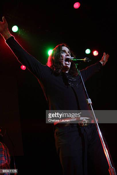 Singer Ozzy Osbourne performs at the Los Angeles Youth Network benefit rock concert at Avalon on November 22 2009 in Hollywood California