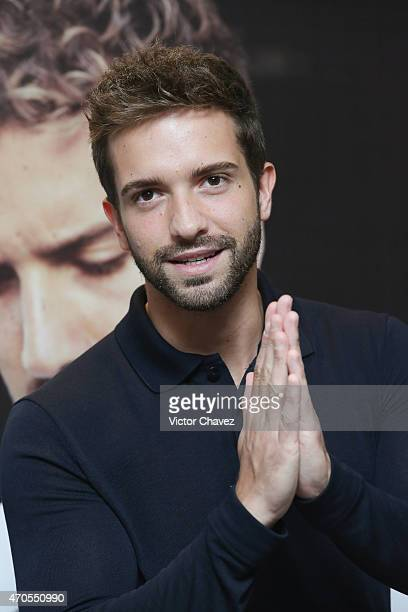 Singer Pablo Alboran attends a press conference to promote his tour 'Terral' at Four Seasons Hotel on April 21 2015 in Mexico City Mexico