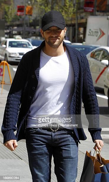 Singer Pablo Alboran is seen on April 17 2013 in Madrid Spain