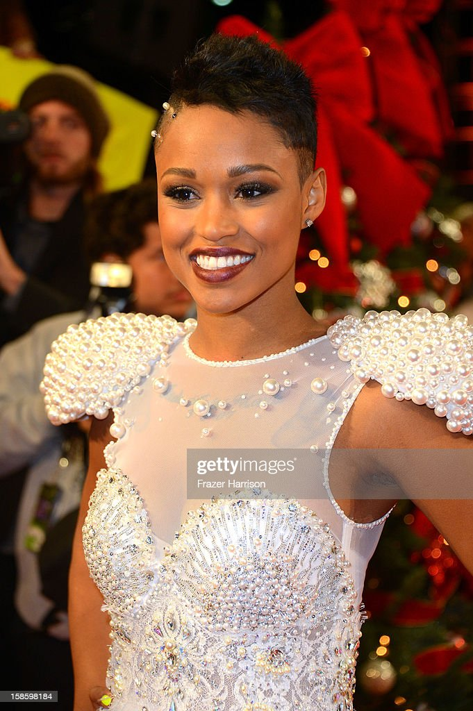 Singer Paige Thomas arrives at Fox's 'The X Factor' Season Finale Night 1 at CBS Television City on December 19, 2012 in Los Angeles, California.