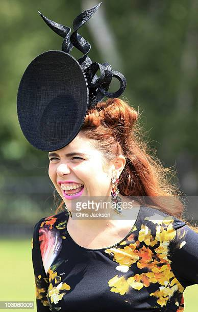 Singer Paloma Faith arrives at the Cartier tent at Guards Polo Club for the Cartier International Polo Day on July 25 2010 in Egham England