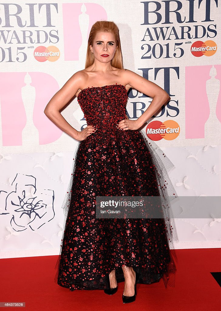 Singer <a gi-track='captionPersonalityLinkClicked' href=/galleries/search?phrase=Paloma+Faith&family=editorial&specificpeople=4214118 ng-click='$event.stopPropagation()'>Paloma Faith</a> attends the BRIT Awards 2015 at The O2 Arena on February 25, 2015 in London, England.