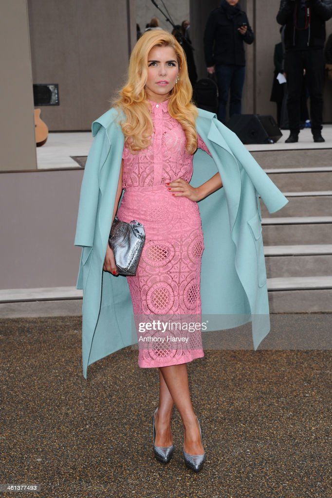 Singer <a gi-track='captionPersonalityLinkClicked' href=/galleries/search?phrase=Paloma+Faith&family=editorial&specificpeople=4214118 ng-click='$event.stopPropagation()'>Paloma Faith</a> attends the Burberry Prorsum show during The London Collections: Men Autumn/Winter 2014 on January 8, 2014 in London, England.