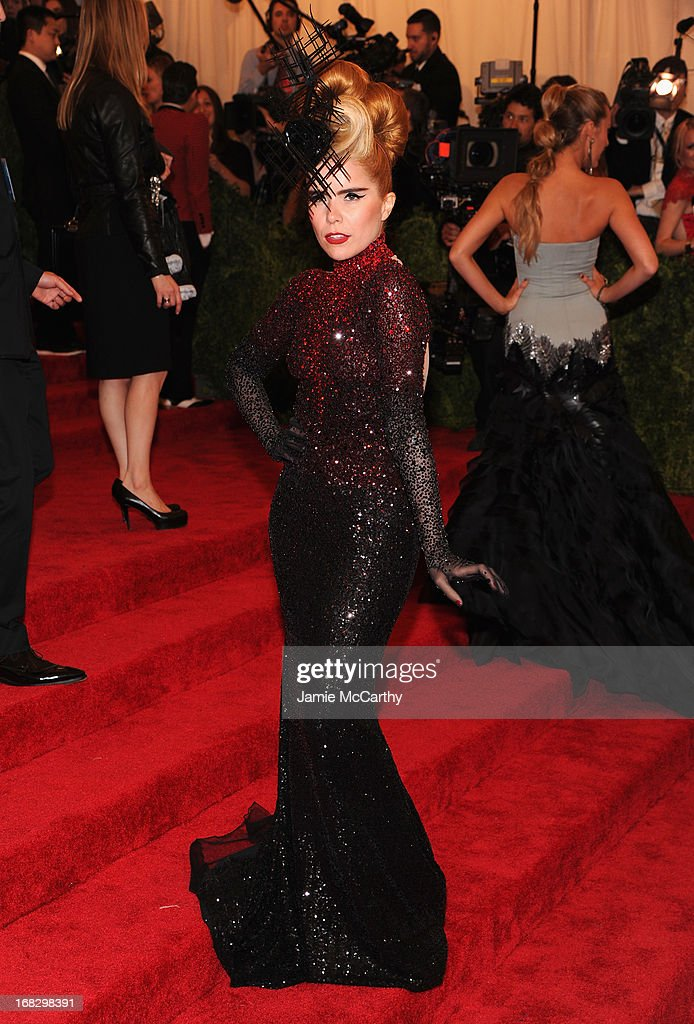 Singer Paloma Faith attends the Costume Institute Gala for the 'PUNK: Chaos to Couture' exhibition at the Metropolitan Museum of Art on May 6, 2013 in New York City.