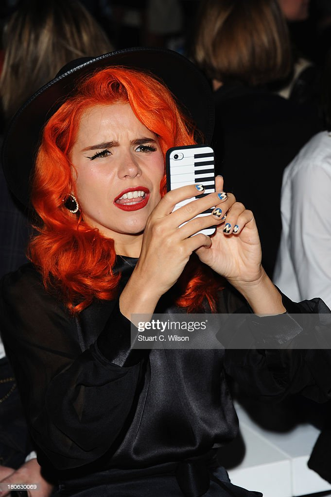Singer <a gi-track='captionPersonalityLinkClicked' href=/galleries/search?phrase=Paloma+Faith&family=editorial&specificpeople=4214118 ng-click='$event.stopPropagation()'>Paloma Faith</a> attends the Temperley London show during London Fashion Week SS14 at The Savoy Hotel on September 15, 2013 in London, England.