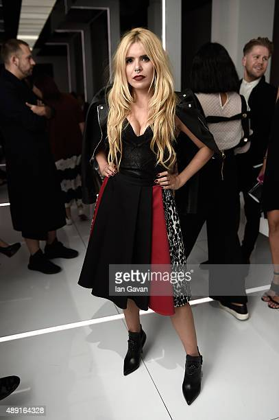 Singer Paloma Faith attends the Versus show during London Fashion Week SS16 on September 19 2015 in London England